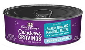 Stella and Chewys Carnivore Cravings Purrfect Pate Salmon Tuna Mackerel Recipe