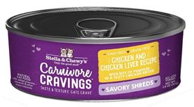 Stella and Chewys Carnivore Cravings Savory Shreds Chicken and Chicken Liver Recipe