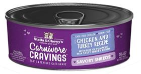 Stella and Chewys Carnivore Cravings Savory Shreds Chicken and Turkey Recipe