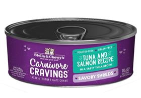 Stella and Chewys Carnivore Cravings Savory Shreds Tuna Salmon Recipe