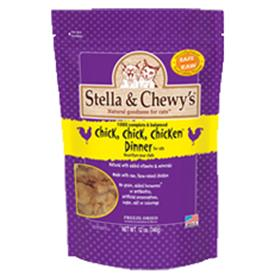 Stella and Chewys Freeze Dried Chick Chick Chicken Dinner for Cats