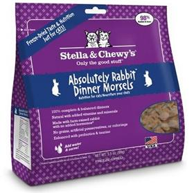 Stella and Chewys Freeze Dried Raw Absolutely Rabbit Dinner Morsels Cat Food