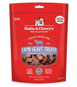 Stella and Chewys Lamb Heart Freeze Dried Raw Dog Treats