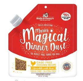 Stella and Chewys Maries Magical Dinner Freeze Dried Raw Dust Cage Free Chicken Dog Food Topper