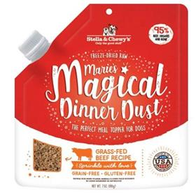 Stella and Chewys Maries Magical Dinner Freeze Dried Raw Dust Grass Fed Beef Dog Food Topper