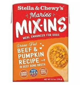 Stella and Chewys Maries Mix Ins Beef Pumpkin Recipe
