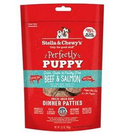 Stella and Chewys Perfectly Puppy Beef Salmon Dinner Patties Freeze Dried Dog Food