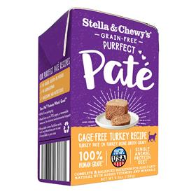 Stella and Chewys Purrfect Pate Cage Free Turkey Recipe Cat Wet Food