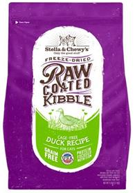 Stella and Chewys Raw Coated Kibble Cage Free Duck Recipe Cat Food