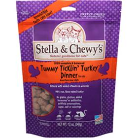 Stella and Chewys Freeze Dried Tummy Ticklin Turkey Dinner for Cats