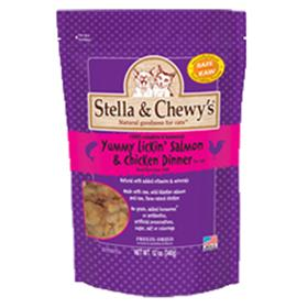 Stella and Chewys Freeze Dried Yummy Lickin Salmon and Chicken for Cats