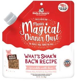 Stella Chewys Maries Magical Dinner Dust Whats Shakn Bacn Freeze Dried Raw Dog Food Topper