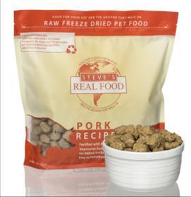 Steves Dog Food Freeze Dried Pork Diet for Dogs