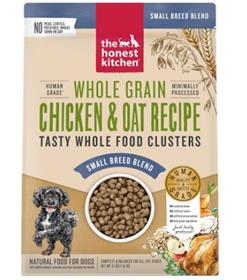 The Honest Kitchen Food Clusters Whole Grain Chicken Oat Small Breed Dog Food
