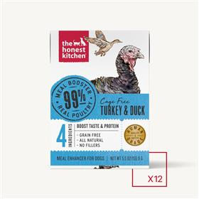 The Honest Kitchen Meal Booster Turkey and Duck