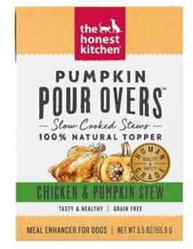 The Honest Kitchen Pumpkin Pour Overs Chicken Pumpkin Stew Wet Dog Food Topper