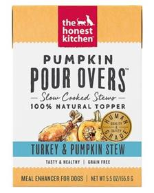 The Honest Kitchen Pumpkin Pour Overs Turkey Pumpkin Stew Wet Dog Food Topper
