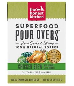 The Honest Kitchen Superfood Pour Overs Chicken Stew with Veggies Wet Dog Food Topper