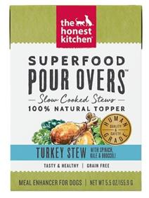 The Honest Kitchen Superfood Pour Overs Turkey Stew with Veggies Wet Dog Food Topper