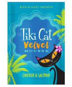 Tiki Cat Velvet Mousse Chicken Salmon Grain Free Wet Cat Food