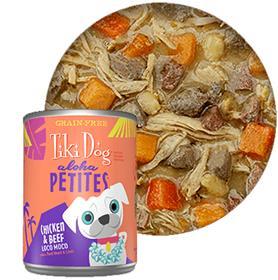 Tiki Dog Aloha Petites Chicken Beef Loco Moco Canned Dog Food