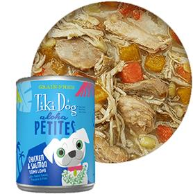 Tiki Dog Aloha Petites Chicken Salmon Lomi Lomi Canned Dog Food