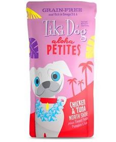 Tiki Dog Aloha Petites Chicken Tuna North Shore Grain Free Dog Food Pouch