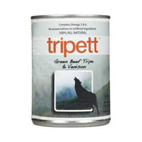 Tripett Green Beef Tripe with Venison Cans