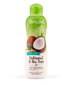 TropiClean Oatmeal and Tea Tree Dog Shampoo
