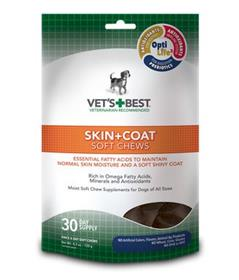 Vets Best Skin and Coat Soft Chews Supplement