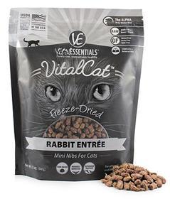 Vital Essentials Cat Food Freeze Dried Rabbit Mini Nibs Entree