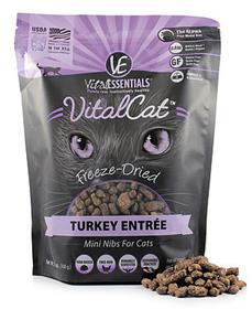 Vital Essentials Cat Food Freeze Dried Turkey Mini Nibs Entree