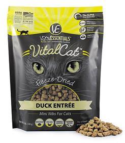 Vital Essentials Delightful Duck Nibblets Freeze Dried Cat Food