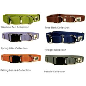 Wagging Green Solid Color Bamboo Collar