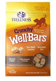 Wellness WellBars Crunchy Peanuts and Honey Baked Dog Treats