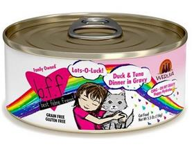 Weruva BFF OMG Lots O Luck Duck Tuna Dinner in Gravy Grain Free Canned Cat Food