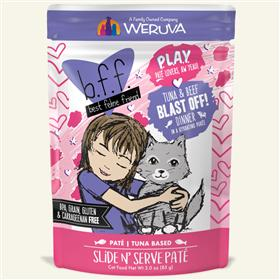 Weruva BFF Play Tuna Beef Blast Off Cat Pouch