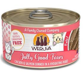 Weruva Classic Cat Jolly Good Fares Chicken Salmon Pate Canned Cat Food