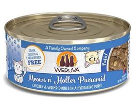 Weruva Classic Cat Meows n Holler PurrAmid Chicken Shrimp Pate Canned Cat Food