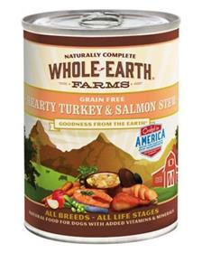 Merrick Whole Earth Farms Grain Free Hearty Turkey Salmon Stew Canned Dog Food