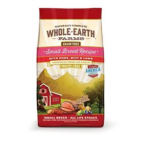 Whole Earth Farms Grain Free Small Breed Pork Beef and Lamb Recipe