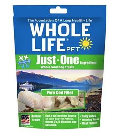 Whole Life Just One Ingredient Pure Cod Fillet Freeze Dried Dog Treats
