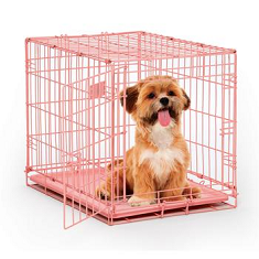 Midwest Single Door Pink Crate