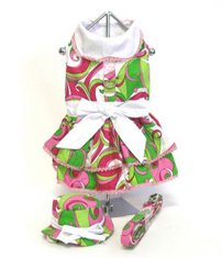 Mod Print Harness Dress Set with Hat and Leash