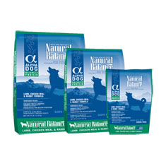 Natural Balance Alpha Dog Lamb Chicken and Rabbit Formula