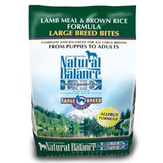 Natural Balance Lamb Meal and Brown Rice Large Breed Bites