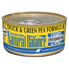 Natural Balance Limited Ingredient Green Pea and Duck Cat Cans