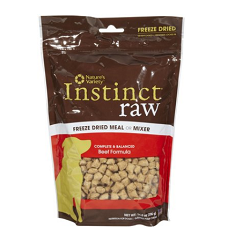 Natures Variety Instinct Freeze Dried Raw Beef Dog Food