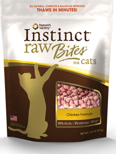 Natures Variety Instinct Raw Bites Chicken Formula for Cats