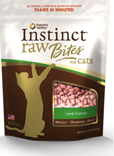 Natures Variety Instinct Raw Bites Lamb Formula for Cats